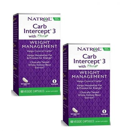 Natrol Carb Intercept 60cp- x2