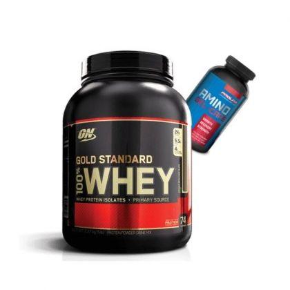 Gold Standard 5lb + Prolab Amino Gels
