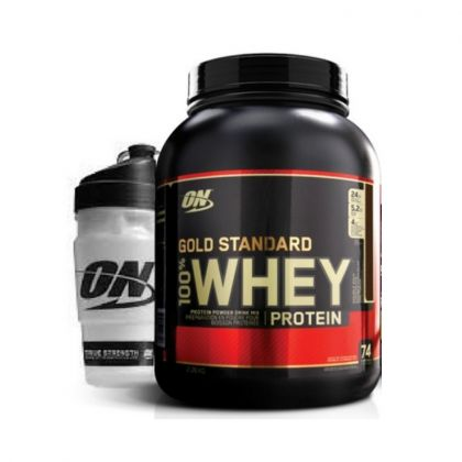 Gold Standard Whey Protein 5lb + ON Shaker
