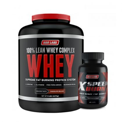 Narlabs 100% Lean Whey 5lb + Xspeed Burn 60cp