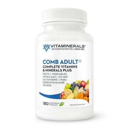 Vitaminerals CombAdult+ Multiple Vitamin & Mineral Formula 180cp
