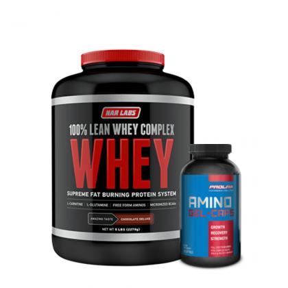 Narlabs 100% Lean Whey Complex 5lb + Free Prolab Amino