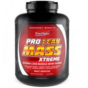 Pro Fight?s Pro Lean Mass Xtreme is a hard core weight gainer, muscle and strength developer synergistically formulated with high quality nutrients to pack and build massive and explosive muscles.