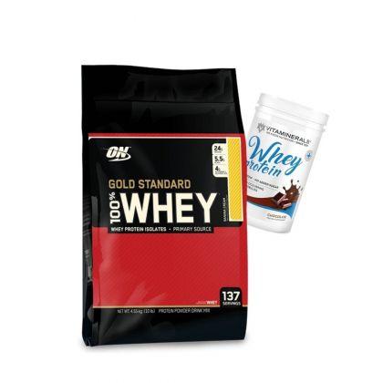 Gold Standard 10lb + Vitaminerals Whey 2lb