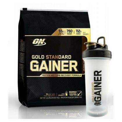 GOLD STANDARD GAINER 10LB + FREE ON GAINER 1 LT SHAKER