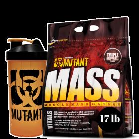 mutant mass 17lb plus shaker